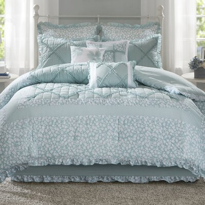 Spiritwood Lake 9 Piece Comforter Set Size: California King