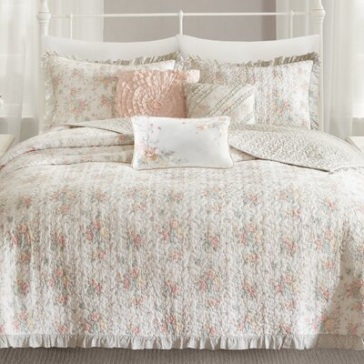 Afton Cotton Coverlet Set Size: King/California King