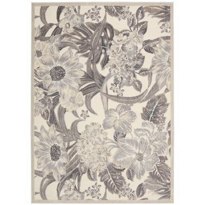 Galva Ivory Area Rug Rug Size: 53 x 75