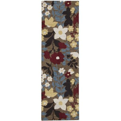Huetter Hand-Tufted Wool Brown Area Rug Rug Size: Runner 23 x 76