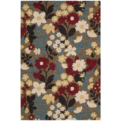 Huetter Hand-Tufted Wool Brown Area Rug Rug Size: 36 x 56