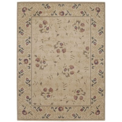 Sharon Taupe/Burgundy Area Rug Rug Size: Rectangle 56 x 75