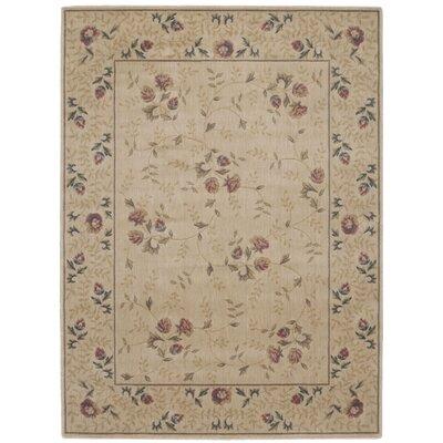 Sharon Taupe/Burgundy Area Rug Rug Size: 56 x 75