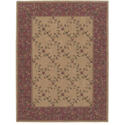 Sharon Brown/Red Area Rug Rug Size: 79 x 1010