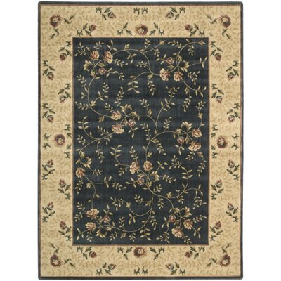 Sharon Navy Area Rug Rug Size: Rectangle 36 x 56