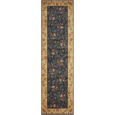 Sharon Navy Area Rug Rug Size: Runner 23 x 8