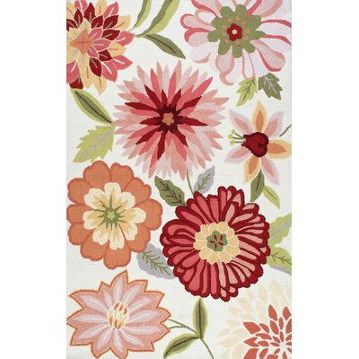 Culloden Pastels Red/Pink Area Rug Rug Size: 36 x 56