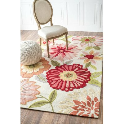Culloden Pastels Red/Pink Area Rug Rug Size: Rectangle 36 x 56