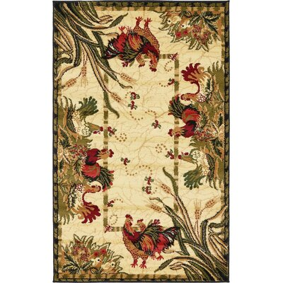 Andersonville Cream Area Rug Rug Size: 5 x 8
