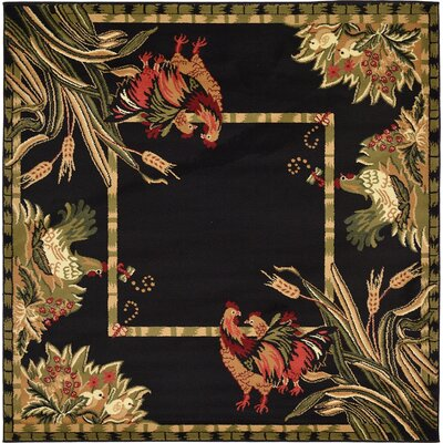 Andersonville Black Area Rug Rug Size: Square 6