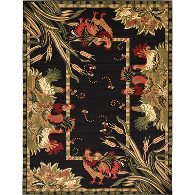 Andersonville Black Area Rug Rug Size: 9 x 12