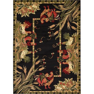 Andersonville Black Area Rug Rug Size: 7 x 10
