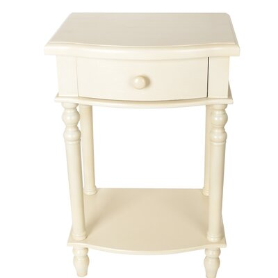 Candela End Table Color: White