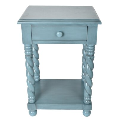 Lilliana End Table Color: Blue