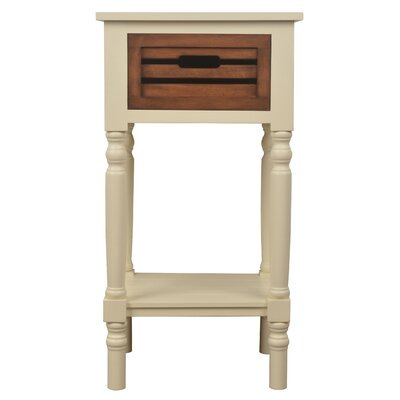 Maia End Table Color: White