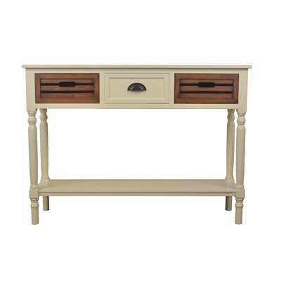 Maia Console Table Color: White