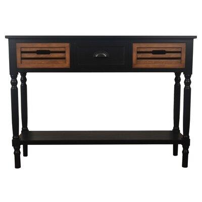 Maia Console Table Color: Black