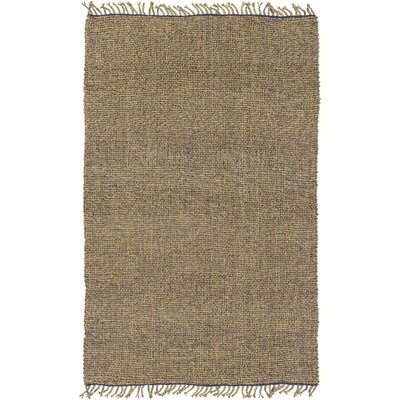 Adelia Hand-Woven Navy/Khaki Area Rug Rug size: Rectangle 4 x 6