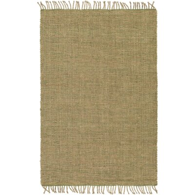 Adelia Hand-Woven Grass Green/Khaki Area Rug Rug size: Rectangle 4 x 6