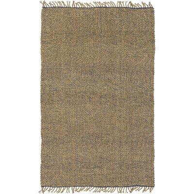 Adelia Hand-Woven Navy/Khaki Area Rug Rug size: 4 x 6