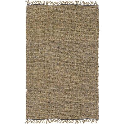 Adelia Hand-Woven Navy/Khaki Area Rug Rug size: 5 x 76