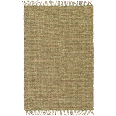 Adelia Hand-Woven Grass Green/Khaki Area Rug Rug size: 4 x 6