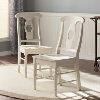 Audette Empire Side Chair Upholstery: Solid Wood Seat, Finish: Linen