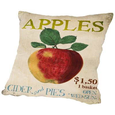 Amelia Apples, Cider & Pies Throw Pillow Size: 16 H x 16 W x 2 D