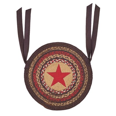 Adrien Jute Applique Star Chair Pad