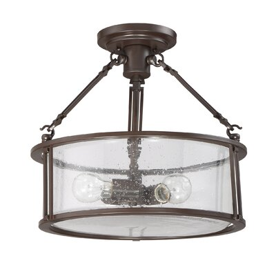 Petersburg 3-Light Semi Flush Mount
