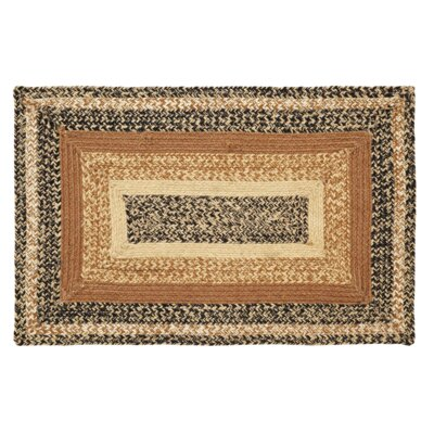 Millicent Black/Brown Area Rug Rug Size: Oval 5 x 8