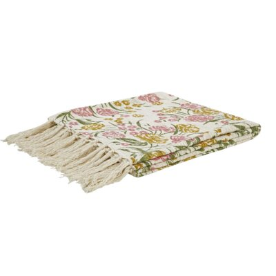 Evangelina Printed Woven Cotton Throw