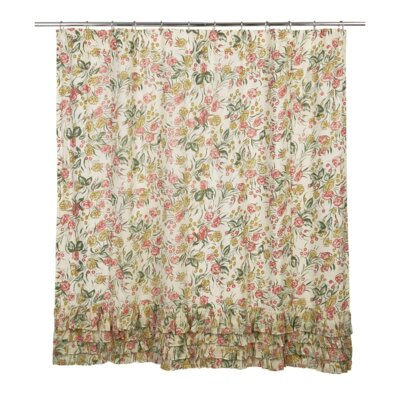 Evangelina Cotton Ruffled Shower Curtain