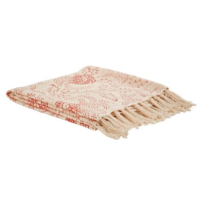 Rosalie Printed Woven Cotton Throw
