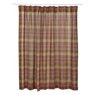 Lenora Cotton Plaid Shower Curtain