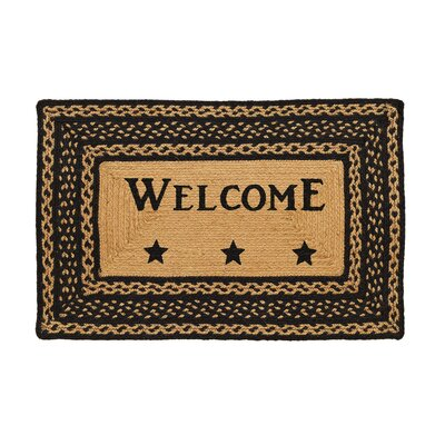 Saco Braided Welcome Doormat Mat Size: Oval 18 x 26