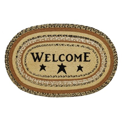 Millicent Welcome Doormat Mat Size: Oval 18 x 26