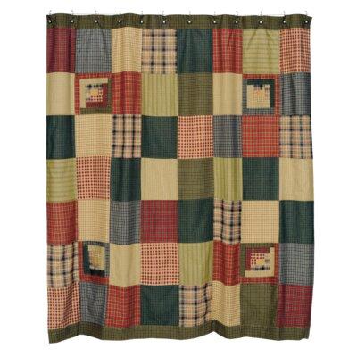 Annabelle Cotton Patchwork Shower Curtain
