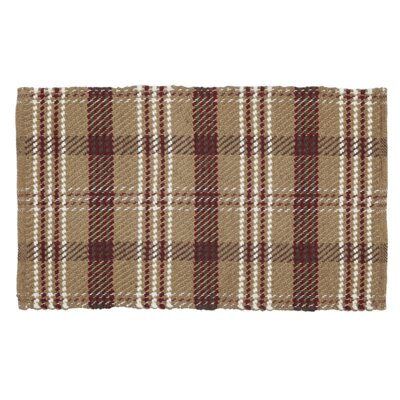 Whigham Tan / Dark Red Area Rug Rug size: 18 x 26