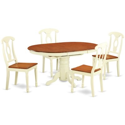 Aimee 5 Piece Dining Set Finish: Buttermilk / Cherry
