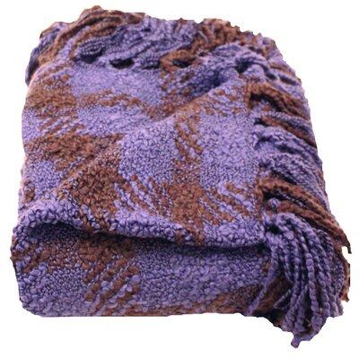 Paula Woven Throw Blanket Color: Iris