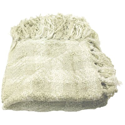 Paula Woven Throw Blanket Color: Cream