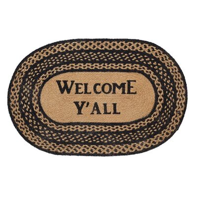 Saco Welcome Yall Area Rug Rug Size: 18 x 26