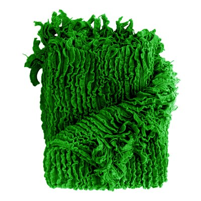 Melisande Ruffled Throw Blanket Color: Emerald