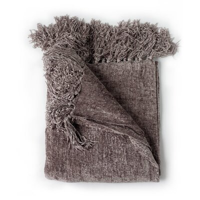 Melisande Throw Blanket Color: Taupe