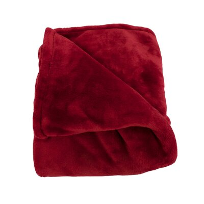 Harper Throw Blanket Size: Twin Extra Long, Color: Ruby