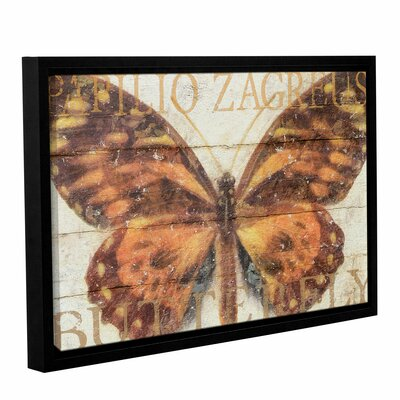 "Butterfly Wood Series II Framed Graphic Art on Wrapped Canvas Size: 32"" H x 48"" W x 2"" D ATGR7704 33337999"