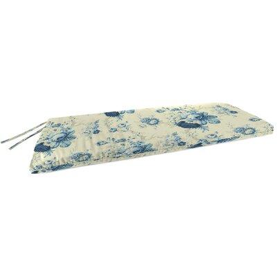 Indoor Bench Cushion Fabric: Sanctuary Rose Cornflower