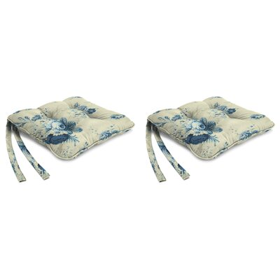 Indoor Chair Cushion Fabric: Sanctuary Rose Cornflower
