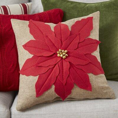 Savanah Throw Pillow Color: Red